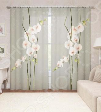 Фотошторы Сирень «Воздушная орхидея» фотоштора tomdom фотошторы белая орхидея