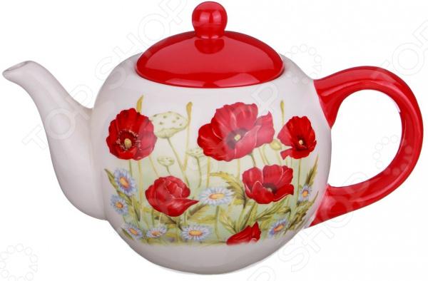 Чайник заварочный Agness «Полевые маки» 358-1088