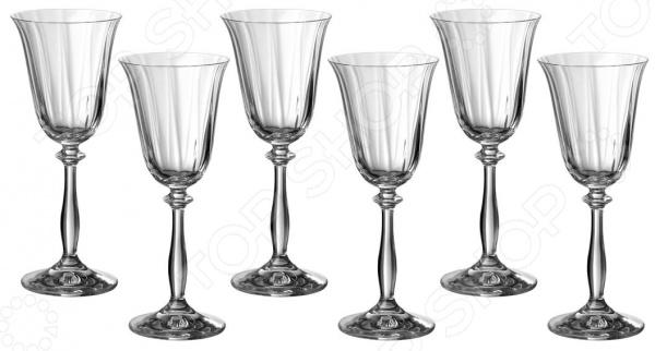 Набор бокалов для вина Bohemia Crystal «Анжела» 674-186 набор бокалов для бренди коралл анжела 40600 00000 400