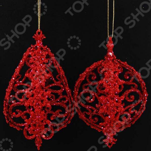 Новогоднее украшение Crystal Deco «Шар с блестками». В ассортименте новогоднее украшение crystal deco шар капля в ассортименте