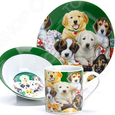 Набор посуды для детей Loraine LR-27111 «Собачка»