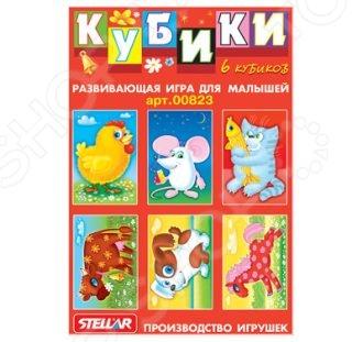 Кубики обучающие Стеллар «Герои сказок» стеллар кубики спокойной ночи малыши 12шт стеллар