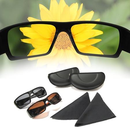 Купить Набор из 2-х пар солнечных поляризованных очков с технологией HD
