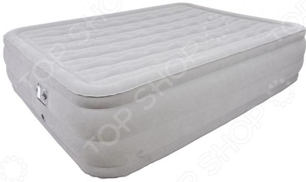 Кровать надувная Relax Deluxe High Rising Air Bed Queen кровать надувная со встроенным электронасосом relax air bed twin