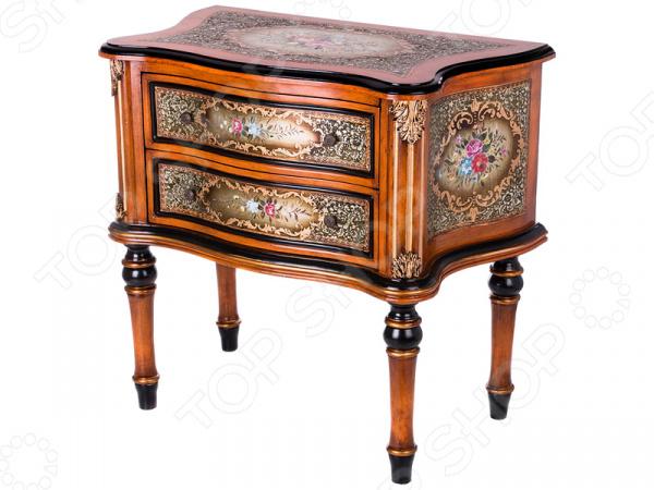 Комод 395-138 гладильный комод he wang с 3 корзинами и 2 ящиками цвет коричневый горчичный