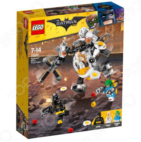 Конструктор игровой LEGO The Batman Movie «Бой с роботом Яйцеголового» lego batman movie ластик 3 шт 51760