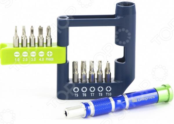 5c13208a Отвертка для точных работ с набором бит СИБРТЕХ 13334 набор слесарных  инструментов для выполнения работ с мелкими деталями. Применим при ремонте  мобильных ...