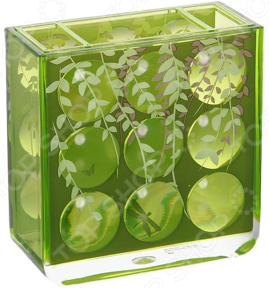 Стакан для зубных щеток Tatkraft Acryl 3D Magic Emerald