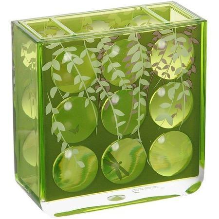 Купить Стакан для зубных щеток Tatkraft Acryl 3D Magic Emerald