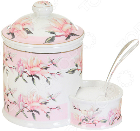 Банка для соли Elan Gallery «Орхидея на розовом» 503760