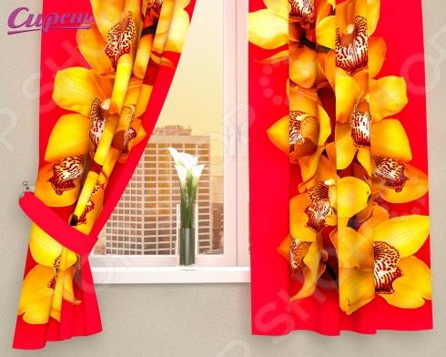 Фотошторы Сирень «Желтая орхидея»