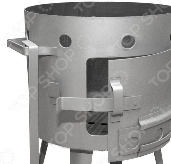 Печь под казан печь мангал для казана grillux цвет черный красный