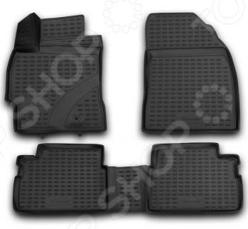 Комплект 3D ковриков в салон автомобиля Novline-Autofamily Toyota Corolla 2013 коврики в салон toyota corolla 01 2007 2013 4 шт полиуретан