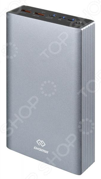 Фото - Аккумулятор внешний Digma DG-PD-30000-SLV аккумулятор