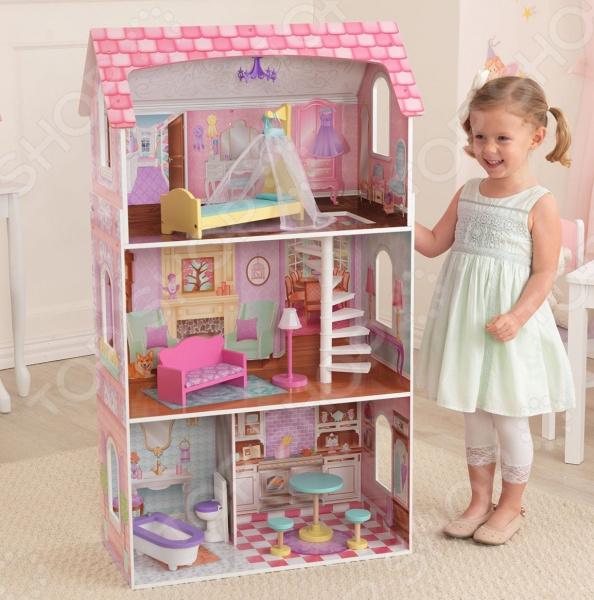 Домик кукольный KidKraft «Пенелопа» кукольный домик kidkraft кукольный домик для барби амелия с мебелью