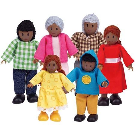 Купить Набор мини-кукол Hape «Счастливая афроамериканская семья»