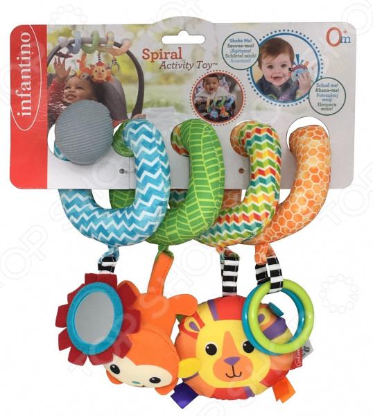 Игрушка развивающая для малыша Infantino Activity Toy Spiral развивающая игрушка paremo скользящие кольца
