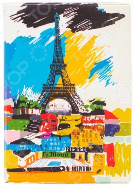 Обложка для паспорта кожаная Mitya Veselkov «Париж в красках» mitya veselkov будка в лондоне