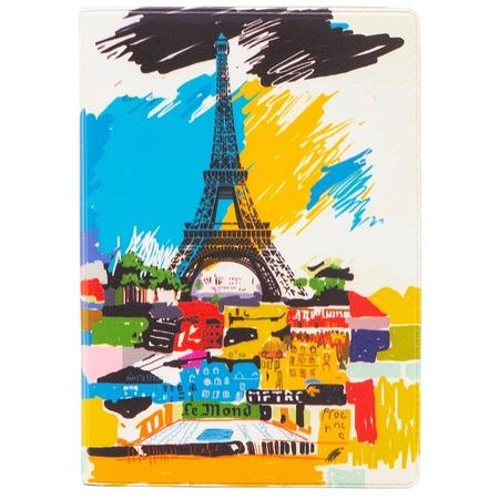 Купить Обложка для паспорта кожаная Mitya Veselkov «Париж в красках»