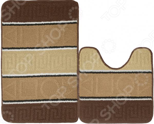 Набор ковриков для ванной комнаты Kamalak textil УКВ-1035