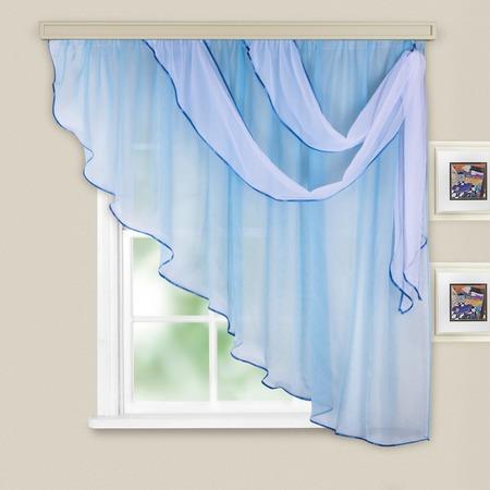 Купить Комплект легких штор правосторонний WITERRA «Азалия». Цвет: голубой