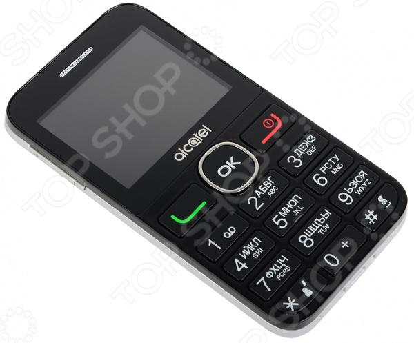 Телефон мобильный Alcatel OneTouch 2008G незаменимое устройство в жизни современного человека. Эта простая и удобная в использовании модель создана для людей, которым не важны лишние функциональные возможности. Это телефон для тех, кому важно оставаться на связи с друзьями и родными.   Цветной дисплей диагональю 2,4 и кнопочная клавиатура обеспечивают комфортное использование функций телефона.  Функция фонарика окажется полезной в темное время суток.  Воспроизведение файлов MP3, а также встроенный радио-приемник для прослушивания любимых радиостанций.  Подойдет пожилым людям, благодаря простоте использования. Сзади под камерой предусмотрена кнопка SOS для осуществления экстренного вызова в соответствии с предварительно заданными настройками.  Телефон отличается компактными размерами 117х61,5х12,5 мм при весе в 90 грамм.
