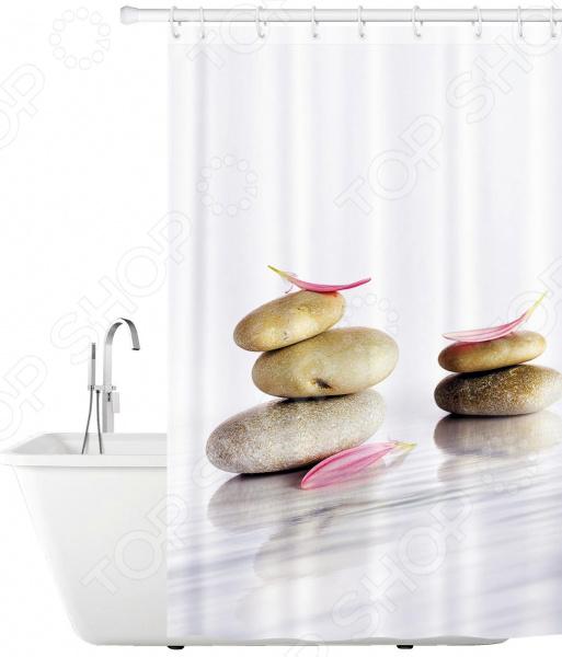 Штора для ванной Tatkraft Stone Garden декоративные перегородки для зонирования комнаты калуга