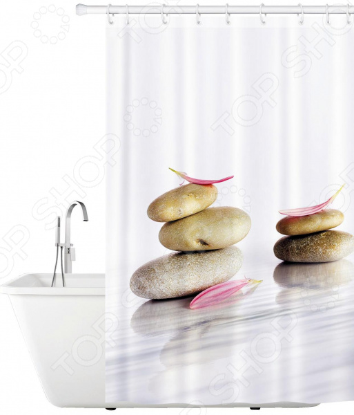 Штора для ванной Tatkraft Stone Garden