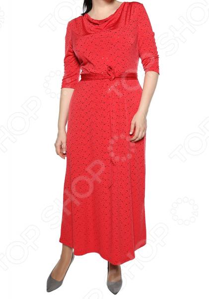 Платье VEAS «Искрящийся образ». Цвет: красный