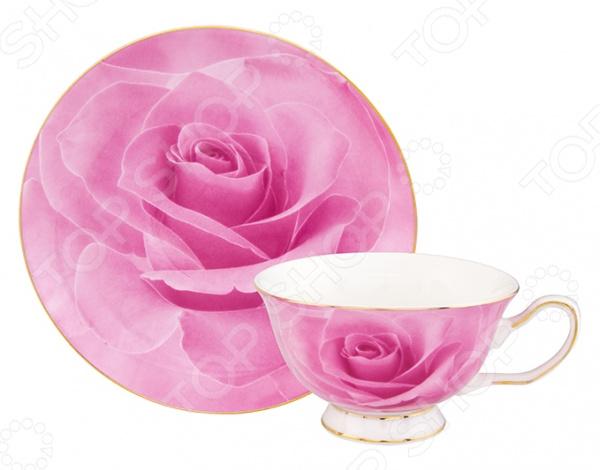 Чайная пара Elan Gallery «Розовая роза»