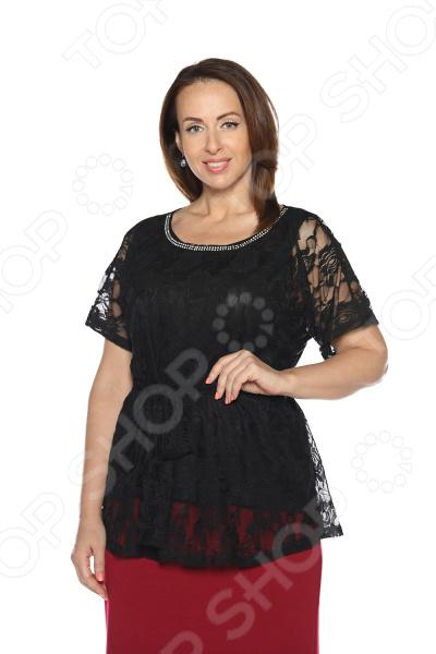 Блуза Гранд Гром «Сладкое счастье». Цвет: черный