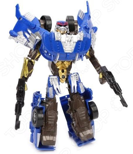Игрушка-трансформер со световыми эффектами Наша Игрушка «Робот-машина» M7411-10