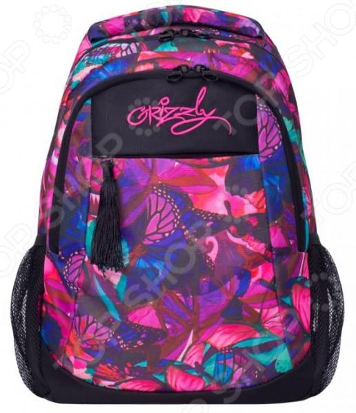 Рюкзак молодежный Grizzly RD-830-4 «Бабочки»