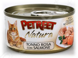 Корм консервированный для кошек Petreet Natura Tonno Rosa con Salmone