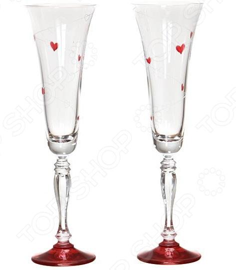 Набор бокалов для шампанского Bohemia Crystal Love 674-046 bohemia crystal набор бокалов для шампанского felina 25 см 2 шт