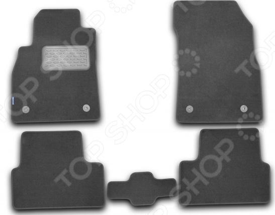 Комплект ковриков в салон автомобиля Novline-Autofamily Chevrolet Cruze 2009. Цвет: черный