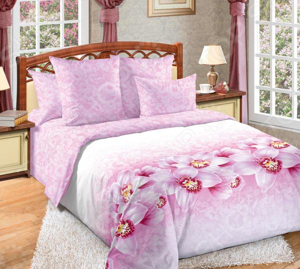 цена Комплект постельного белья Королевское Искушение «Аромат орхидей» онлайн в 2017 году