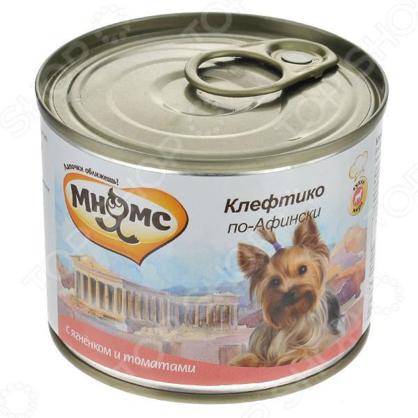 Корм консервированный для собак Мнямс «Клефтико по-Афински» с ягненком и томатами