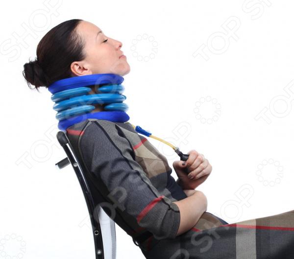 Воротник лечебный Просто-Полезно Применяя надувной воротник, мы мягко вытягиваем шейный отдел...