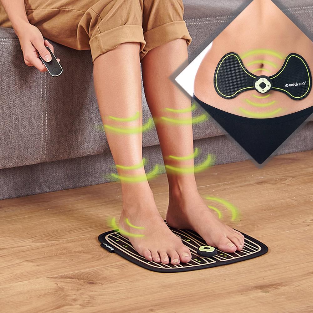Многофункциональный массажер-миостимулятор Wellneo «Фитнес» 2 в 1
