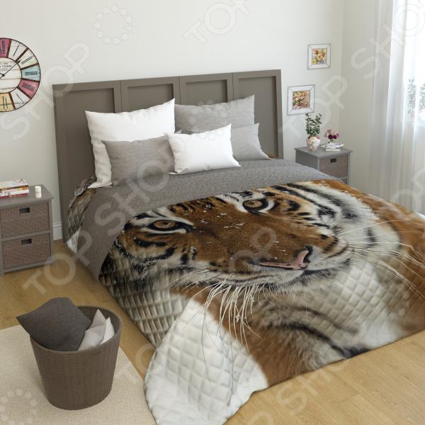 Фотопокрывало стеганое Сирень «Сибирский тигр»