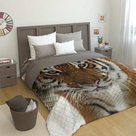 Купить Фотопокрывало стеганое Сирень «Сибирский тигр»