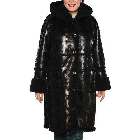 Купить Дубленка Laura Amatti «Королевский питон». Цвет: черный