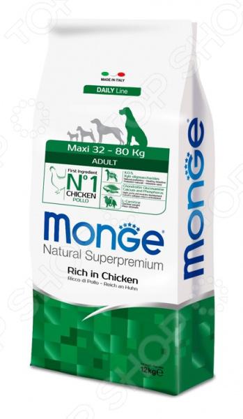 Корм сухой для собак крупных пород Monge Natural Superpremium Maxi Adult Rich in Chicken сухой корм bosch petfood adult maxi для взрослых собак крупных пород 15кг