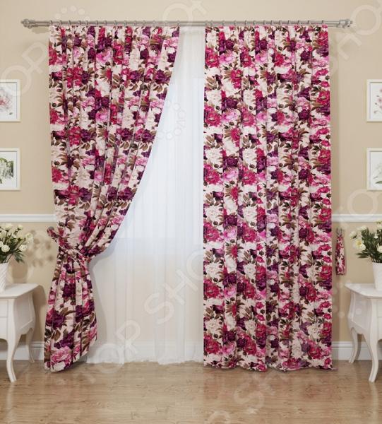 Комплект штор Сирень «Цветочный бархат»