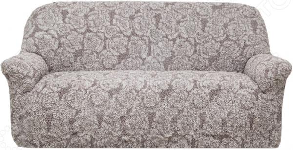 Натяжной чехол на трехместный диван Еврочехол Еврочехол «Виста. Грация» как купить мебель николаев бу