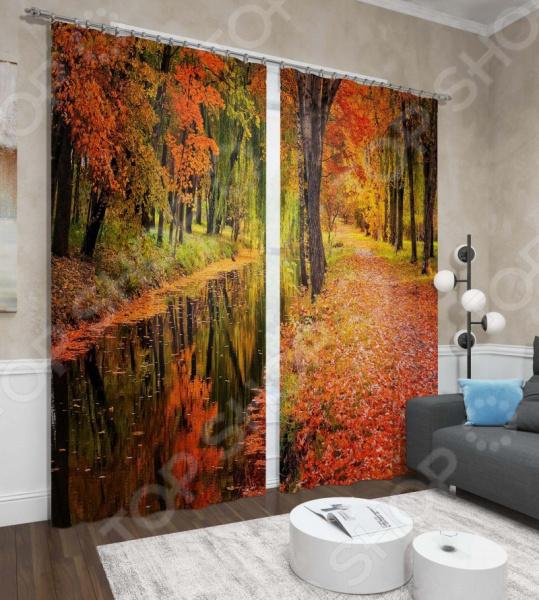 Фотошторы Сирень «Осенний парк» шторы томдом фотошторы осенний дуб