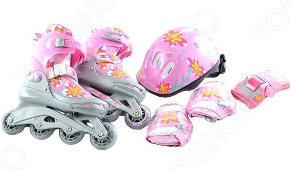 Роликовые коньки с комплектом защиты и шлемом X-MATCH Flowers X-MATCH - артикул: 684483