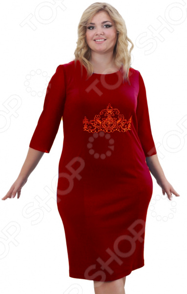 Платье Лауме-Лайн «Леонсия». Цвет: бордовый
