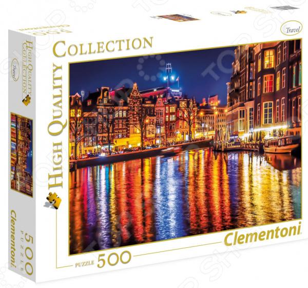 Пазл 500 элементов Clementoni HQ «Амстердам» clementoni пазл hq вороной конь в море 500